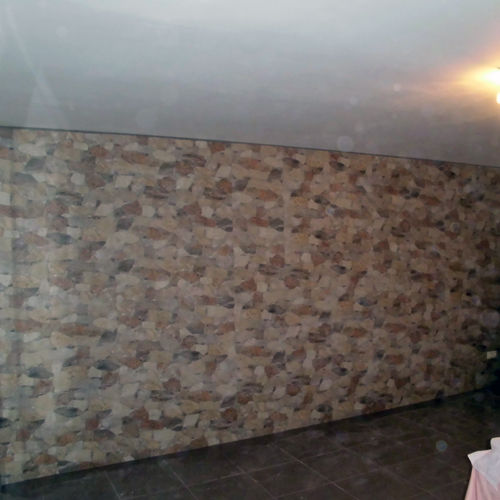 Réforme du mur carrelé en imitation de Pierre