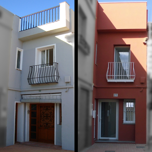 Intégrale de la restauration de la façade